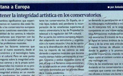 Mantener la Integridad artística en los Conservatorios