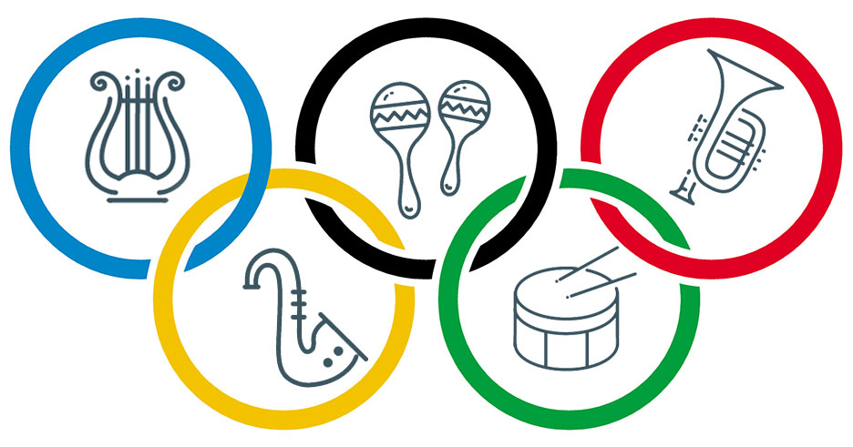 Musical Olympic Rings