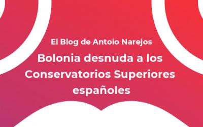 Bolonia desnuda a los Conservatorios Superiores españoles